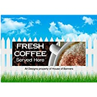 FASTFOOD BANNER 8x3ft ALL DAY BREAKFAST SERVED HERE BANNER OUTDOOR SIGN TAKEAWAY