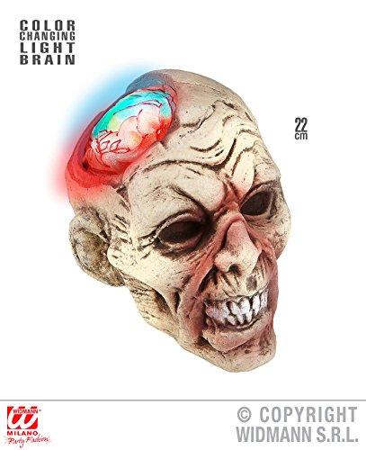 - leuchtend, Batteriebetrieb, Halloween Deko Horror Skelett Figuren Leichenteile Körperteile Kopf Gehirn (Halloween Leichenteile)