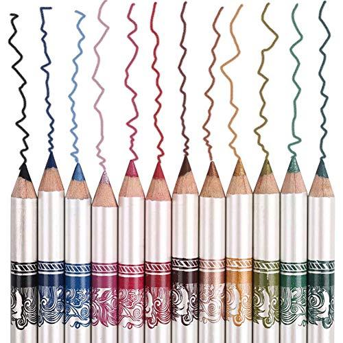 Beito 12 farben Eyeliner Bleistift Make-Up Wasserdicht Lip Augen Liner Kosmetik Schwarz Rot Silber...