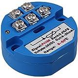 cnbtr DC 24V de plástico azul RTD PT100sensores de temperatura transmisor 0a 50¡ã entrada
