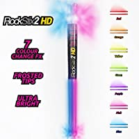 Paar ROCKSTIX 2 HD: Bright Light Up Multi Color ändern LED Drumsticks, 7 AMAZING Farbe Effekte, Set Your Gig On Fire.