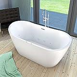 AcquaVapore freistehende Badewanne FSW23 180cm Whirlpool Luft & Wasser, Armatur:mit Armatur AFSW04 +170.-EUR