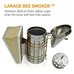 ASPECTEK Bee Hive Smoker, Beekeeping Equipment, Heavy Duty Stainless Steel Large Size, Superior Airflow Bellow and… 14