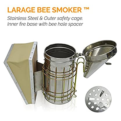 ASPECTEK Bee Hive Smoker, Beekeeping Equipment, Heavy Duty Stainless Steel Large Size, Superior Airflow Bellow and… 7