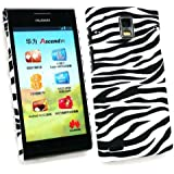 Emartbuy ® Huawei Ascend P1 Zebra Schwarz / Weiß Clip On Protection Case / Cover / Skin