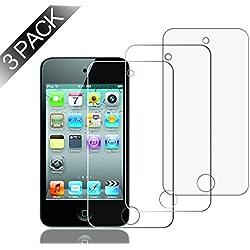 WolinTek [Pack de 3] Apple iPod Touch 4 Protection écran, [ANTI RAYURES] Film Protecteur en Verre trempé pour Apple iPod Touch 4