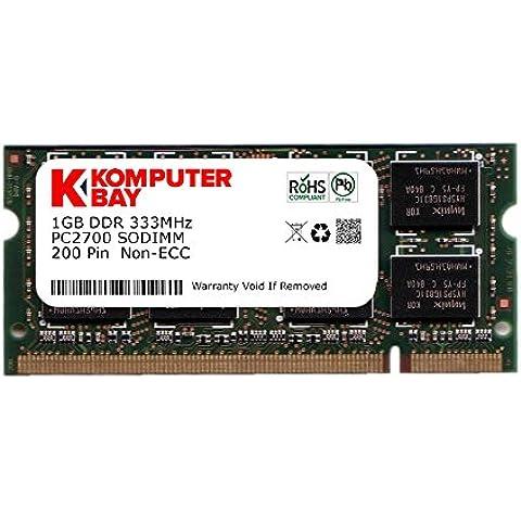 Komputerbay - Módulo de memoria SODIMM (1 GB, 200 pines, 333 MHz, PC2700, DDR333)