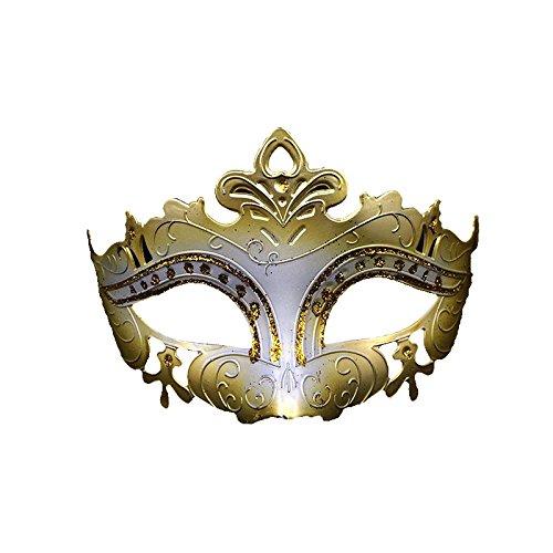 Venezianische Venetianische Gold weiß Bunte Glitzer Maske Maskerade Masken Ball Karneval Kostüm Fasching Verkleidung Shades of Grey Mr Grey Herren Damen Männer Frauen Funkelnd Mitternacht - Weiße Für Maskerade-masken Männer