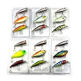 #9: Zibuyu 3Pcs Lot Fishing Lures Mixed Set Minnow Crankbaits Topwater Popper Hook