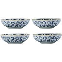 Maxwell Williams 5251644 Laguna Lot de 4 bols en porcelaine Bleu/blanc 10 cm, Porcelaine, Dessert Bowls (18 cm)