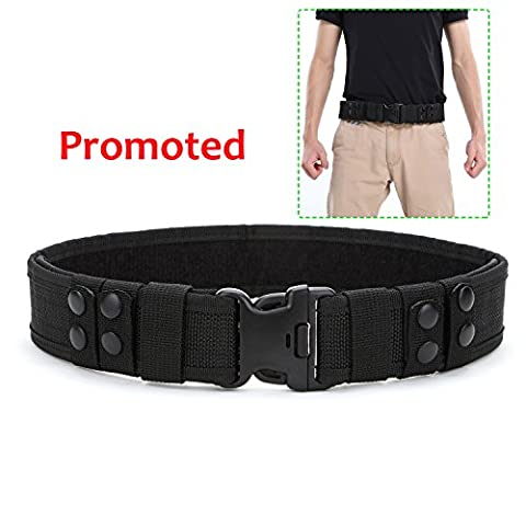 Yahill® Yahill Security Tactical Combat Belt Utility Gear Adjustable Heavy Duty Police Military Equipment for Outdoor (Black-Promoted) - Sport e all'aperto Attrezzature per attività all'aperto