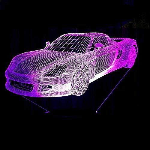 new 3D LED Nachtlicht Musik Sportwagen Rennrad Heimtextilien Lichter in 7 Farben Erstaunliche visuelle Effekte