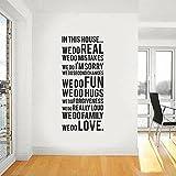 Winhappyhome Mode Familie Englisch SprüChe Wandaufkleber Schlafzimmer Wohnzimmer Hintergrund Home Decor Removable Aufkleber Wandzeichnungen 150 * 60 Cm