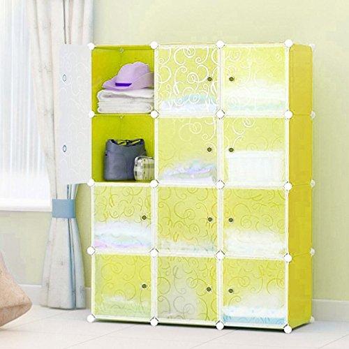 KinshopS DIY Kleiderschrank 12 Boxen Schuhschrank Aufbewahrung Garderobenschrank Steckregalsystem...