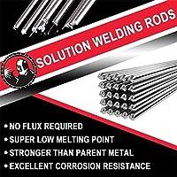Soldadura Varillas con núcleo fundente No requiere fundente, punto de fusión súper bajo más fuerte que el metal original Excelente resistencia a la corrosión