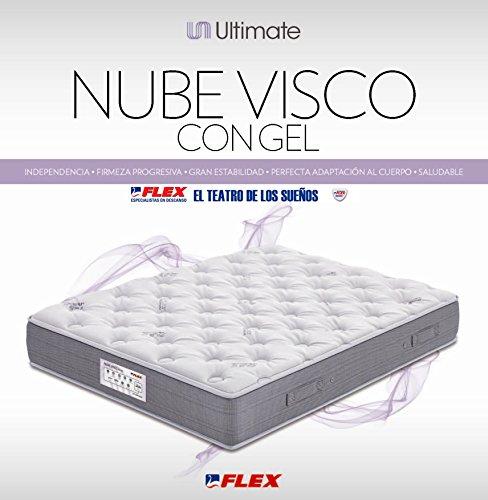 Flex colch n flex nube visco con gel 150x200 color for Colchon flex nube visco gel