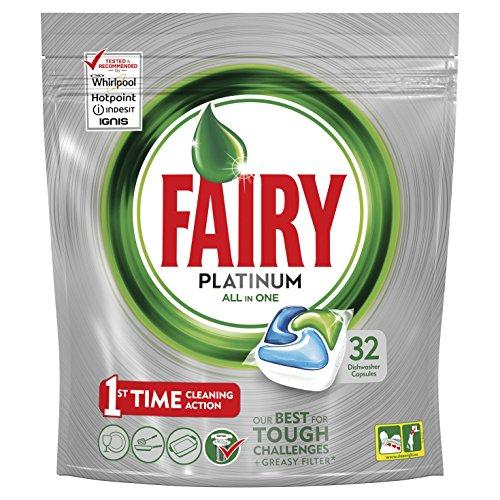 Fairy Platinum Cápsulas Lavavajillas - Pack 32unidades