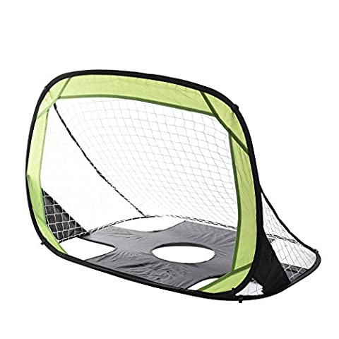 Soccer Goal for Kids Backyard, Foldable Kids Soccer Training Net Football Target Shot Goal (Green 2