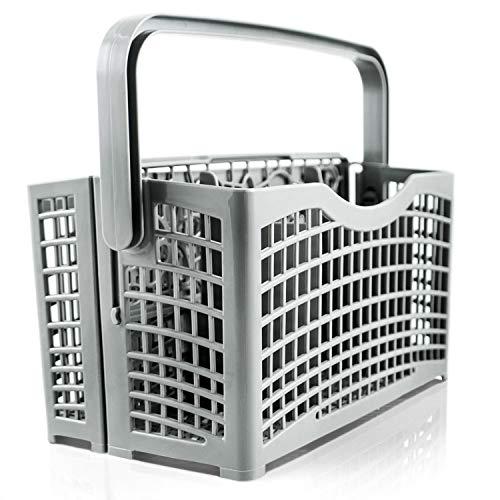 ORIGINAL Plemont Besteckkorb für die Spülmaschine [23 x 8,5 &4,5 x 13,5cm] Spülmaschinenkorb mit innovativer 2 in 1 Lösung - Spülkorb für Geschirrspüler & Spülmaschine mit hitzebeständigem Kunststoff