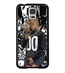 Fuson Premium 2D Back Case Cover dj With Brown Background Degined For Samsung Galaxy S5 G900i::Samsung Galaxy S5 i9600::Samsung Galaxy S5 G900F