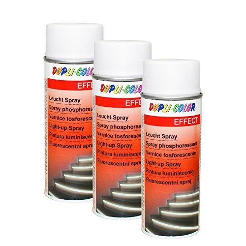 Preisvergleich Produktbild 3X DUPLI-Color LEUCHTSPRAY Metall Holz HARTKUNSTSTOFF Karton Wände EFFEKTLACK 400 ML