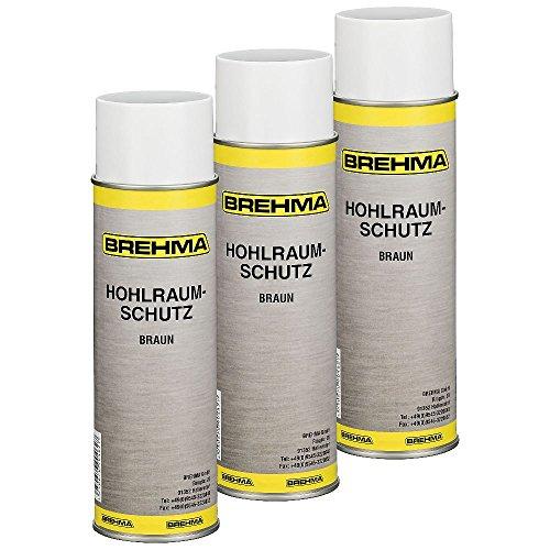3x BREHMA Hohlraumschutz Hohlraumversiegelung Spray 500ml Wachs (Spray-auto-wachs)