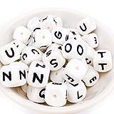 Mamimami Home 100pc Alphabet Letter Food Grade Silikon Kauen Perlen für Zahnen Halskette In 26 Buchstaben Silikon Buchstaben Perlen