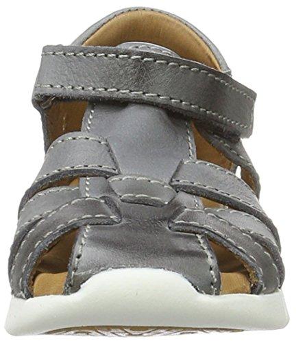 Bisgaard Sandalen, Sandales  Bout ouvert mixte enfant Grau (401 Grey)