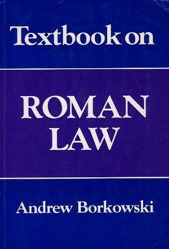 Textbook on Roman Law by Andrew Borkowski (1994-04-06)