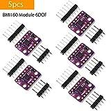 Makerhawk 5 stücke BMI160 Modul 6DOF 6-achsen Beschleunigungssensor und Gyroskop Schwerkraft Sensor in PMU I2C Breakout SPI-schnittstelle für Arduino, Schritt, Beschleunigung Erkennung Serie DIY