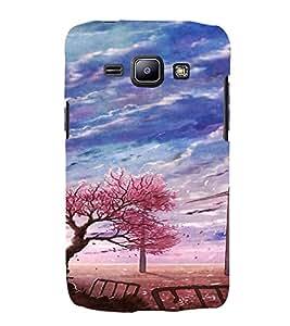 PrintVisa Autumn Scene Art 3D Hard Polycarbonate Designer Back Case Cover for Samsung Galaxy J1
