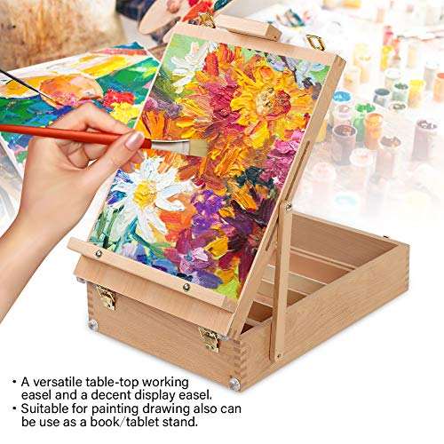Especificación: Material: madera Peso: 3775 g / 133,2 oz Color: Burlywood Tamaño: 43 * 32 * 11.5cm / 16.9 * 12.6 * 4.5 pulgadas  El paquete incluye: 1 x soporte de caja de caballete  Nota: 1. Permita un error de 1 ~ 3 cm debido a la medición manual. ...