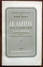 le capital - Livre troisieme tome 3 de Karl marx