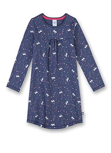 Sanetta Mädchen Nachthemd 232091, Blau (Blue Indigo 50020), 116