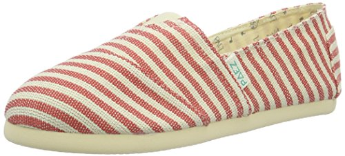 PaezOriginal Eva Surfy UK - Espadrillas Unisex - Adulto , Multicolore (Mehrfarbig (White, Red 0066)), 41