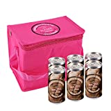 City Secco Kühltasche mit 6 Dosen Secco zum Jungesellinenabschied - JGA - mit Namensaufdruck der Braut