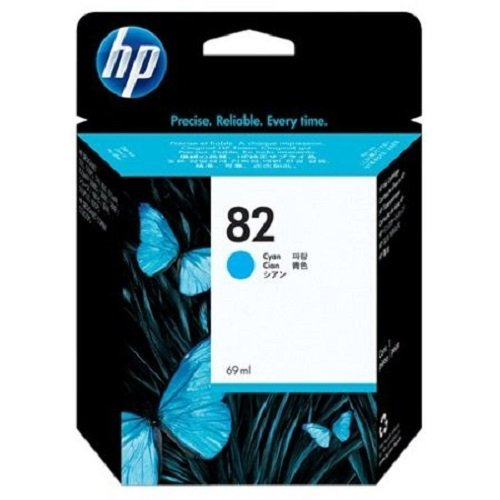 HP 82 Cyan Original Tintenpatrone, 69 ml (Hp Plotter Designjet)