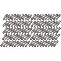 sourcing map Cuña grises de 16mmx3mmx3mm acero al Carbono 100 piezas