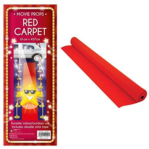 Roter Teppich VIP Deko Empfangsteppich Hochzeit Deko 450×61 cm Red Carpet - 2