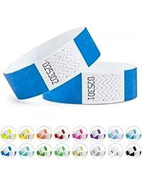 linie zwo Lot de 100 bracelets d'identification Tyvek® 19 mm, diverses couleurs disponibles