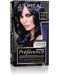 prfrence loral paris coloration permanente 110 noir - Coloration Permanente Bleu