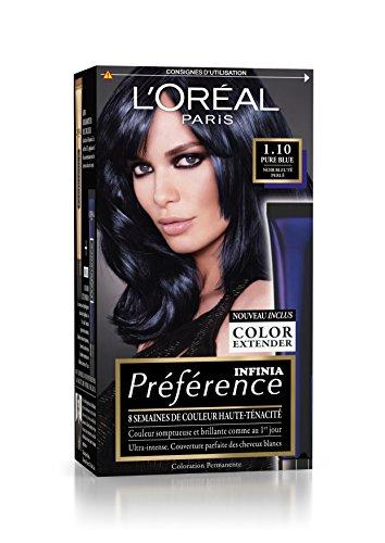 Préférence L'Oréal Paris Coloration Permanente 1.10 Noir Bleuté Perlé
