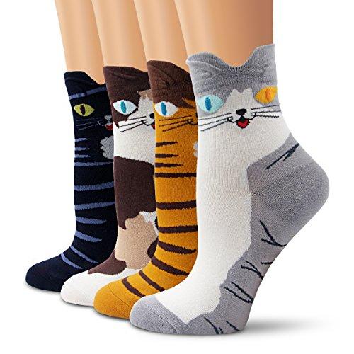 Características:  Los calcetines del equipo de la novedad se hacen del algodón suave, elástico con diseños divertidos, coloridos. por Este paquete de calcetines de alta calidad con diferentes diseños, como se muestra en Imágenes. Dé un par a su herma...