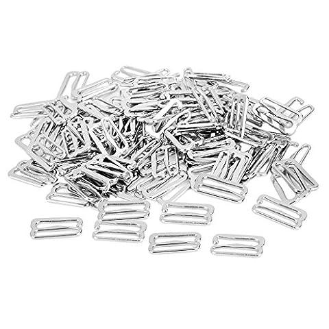 Gazechimp 9 Förmigen Dessous Nähen BH Ringe Schnallen - Silver, 18mmx10mm Hook (Nähen Ringe)