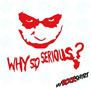 Myrockshirt Why So Serios Joker 20x20 Cm Rot Aufkleber Sticker Tuning Scheibe Ohne Hintergrund Auto