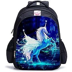 Mochilas de escuela unicornio de fantasía, mochilas arcoiris estilo unicornio Mochilas escolares de estudiante, mejores regalos de unicornio Equipaje de viaje para niño adolescente estudiante y niña