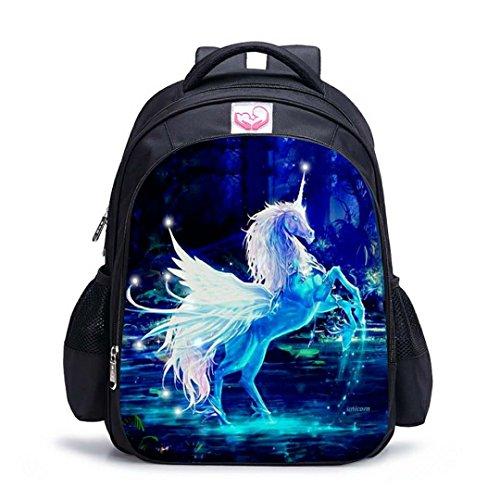 Runhome Einhorn Student School Rucksäcke, Junge und Mädchen Mode Unicorn Geschenke Regenbogen Taschen, Unicorn Bedruckte Rucksäcke Lustige Reise Gepäck Lässige Daypacks