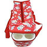 Baby Diaper Bag With 2 Bottle Holder Travelling Bag For Kids - Keep Baby Bottle Warm (Red)