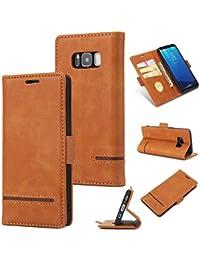 Handy hülle Tasche Leder Flip Case Brieftasche Etui Schutzhülle für Samsung Galaxy S8/S9/S8 Plus/s9+/Note 8/Note9/Huawei Mate 20/20 Lite/20 Pro hülle,5 Farben