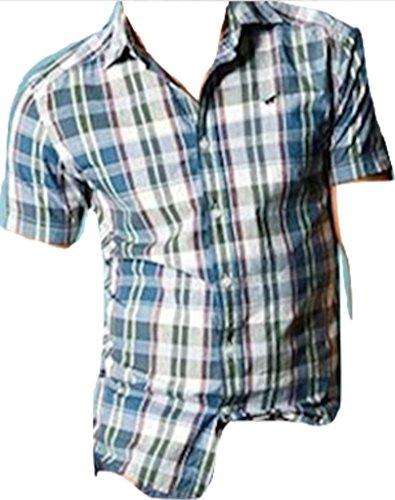 Mustang -  Camicia Casual  - A quadri - Uomo blu Small